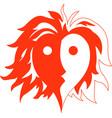 heart fire man vector image vector image
