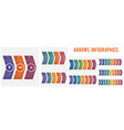 horizontal numbered color arrows text template vector image