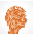 Human head-Abstract of triangles vector image