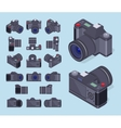 Isometric photo cameras vector image vector image