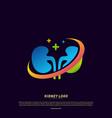 kidney logo design concept urology logo template vector image