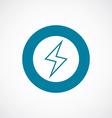 lightning icon bold blue circle border vector image vector image