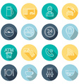 Line gas station icons Flat design vector image