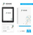 lollypop business logo tab app diary pvc employee vector image vector image