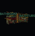 London builders bathroom in wood part two text vector image