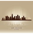 Los Angeles California skyline city silhouette vector image vector image