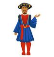 man or prince in vintage clothes renaissance vector image vector image