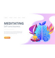 meditating and self-consciousness concept landing vector image vector image