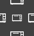 Microwave oven sign icon Kitchen electric stove vector image