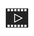 movie frame with play button glyph icon vector image