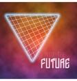 Neon Poster Retro Disco Background Into The vector image vector image