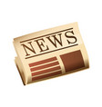 newspaper with header isolated cartoon design vector image
