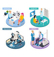 ophthalmology isometric design concept vector image vector image