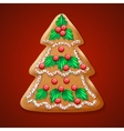Ornate realistic traditional Christmas tree vector image