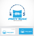 Party music logo vector image