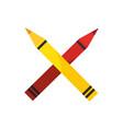 pencil colors icon vector image vector image