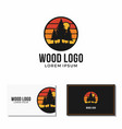 pine tree logo forest outdoor graphic vector image vector image