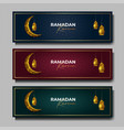 ramadan kareem banner islamic background vector image vector image