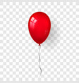 red balloon 3d thread isolated white transparent vector image