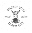 Retro cricket club logo icon design Vintage vector image vector image