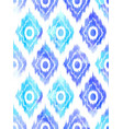 seamless ikat textile pattern vector image vector image