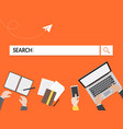 search graphic for business vector image vector image