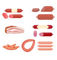set of sausage vector image