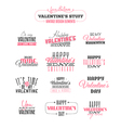 Set of vintage Valentines day design elements vector image vector image