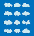 set various clouds vector image