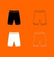 shorts black and white set icon vector image vector image
