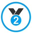 Silver Medal Icon vector image