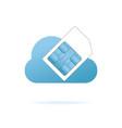 sim card in blue cloud vector image