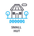 small hut thin line icon sign symbol vector image vector image