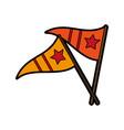 sports celebratory flags icon image vector image