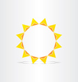 stylized sun rays hot energy icon vector image vector image