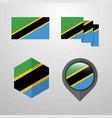 tanzania flag design set vector image vector image