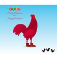 The symbol of the New 2017 rooster vector image