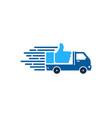 top delivery logo icon design vector image vector image
