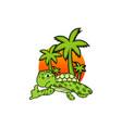 turtle island creative design vector image vector image