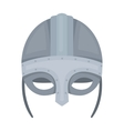 Viking helmet icon in cartoon style isolated on vector image