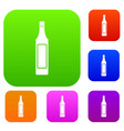 vinegar bottle set color collection vector image vector image