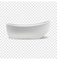 white bathtub mockup realistic style vector image vector image