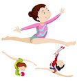 Woman athlete doing floor exercise vector image vector image