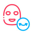 wrinkle face mask icon outline vector image vector image