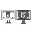 x-ray thin line and glyph icon medicine and bone