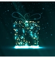 Circuit board background christmas gift vector image