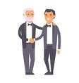 Bbusiness team partnership character vector image