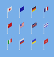 Set of flags of different countries vector image