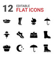 12 seasonal icons vector image vector image