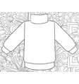 adult coloring bookpage a cute sweater on the vector image